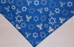 Hanukkah Dog Bandana / Scarf over the collar bandana by artsydogs