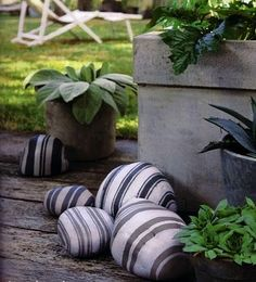 Paint the stones for a nice touch to your landscaping, if done right, it could be a great conversation piece... #home #decor