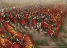 Roman infantry formation.