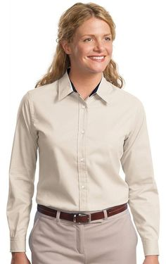 5574943e6acff Port Authority Women s Long Sleeve Easy Care Shirt at Amazon Women s  Clothing store