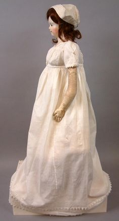 Early Regency Period Antique Baby Dress c.1830 with VanDyking~ Super from kathylibratysantiques on Ruby Lane
