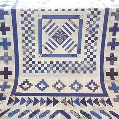 Indigo Crossing Medallion quilt pattern at Tikki of London