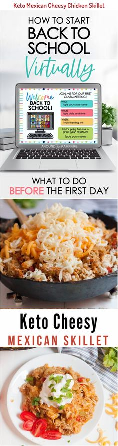 Make our Keto Cheesy Mexican Skillet Chicken as a great family-friendly low carb recipe that comes together in minutes. It's so easy, delicious, and kid-friendly! #keto #lowcarb #ketorecipes Skillet Chicken, Cheesy Chicken, Good Food, Yummy Food, Tasty, Low Carb Recipes, Baking Recipes, Cake Recipes, Cold Remedies Fast