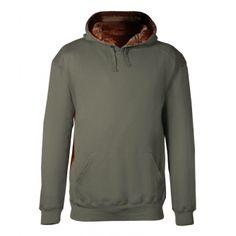 1264 Badger Adult Athletic Fleece Camo Accent Hooded Sweatshirt. Buy at Wholesale Price.