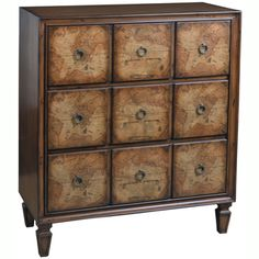 Hand Painted Distressed Chestnut Finish Accent Chest | Overstock.com Shopping - Great Deals on Coffee, Sofa & End Tables