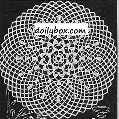 Free Vintage Crochet - Round Crochet Doily Pattern