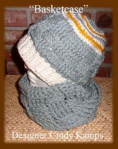 Basket Weave Infinity Scarf & Hat Pattern by crochetbayboutique, $4.00