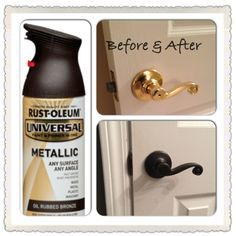 Rustoleum!!!! LOVE!!  I so want to do this at home, hate the shiny brass!