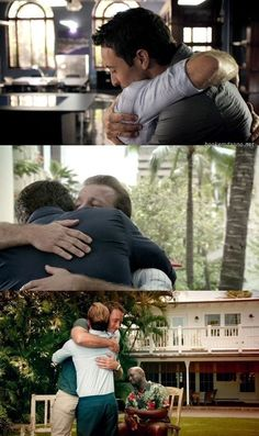 Steve and Danny hugs