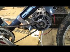 DIY Ebike with car alternator Episode 2 - Alti-motor mounted at last. NB Read the notes Bike Motor Kit, Go Kart Frame, Washing Machine Motor, Custom Lighters, Quad, Motorised Bike, Power Bike, Reverse Trike, Diy Garage Storage