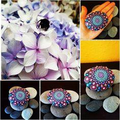 BarbaraMandalaTFS#3 MandalaLove#flower#nature#purple and blue#love mandala by BarbaraMandalaTFS on Etsy