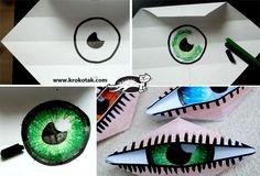 направи си сам мигащо око - оригами за деца