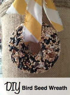 Make your own bird seed wreath with these simple directions and inexpensive supplies.