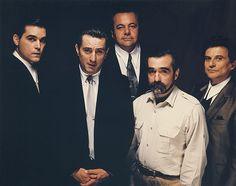 Ray Liotta, Robert De Niro, Paul Sorvino, Martin Scorsese et Joe Pesci pour Les Affranchis (1990) © Martin Scorsese Collection, New York.