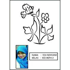 #corelDraw #blackandwhite #flower #drawing #tugasprakarya