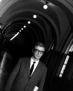 Michael Caine in The Ipcress File (1965, dir. Sidney J. Furie)