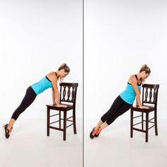 5 exercices sur une chaise pour enlever la graisse du ventre - Les Éclaireuses