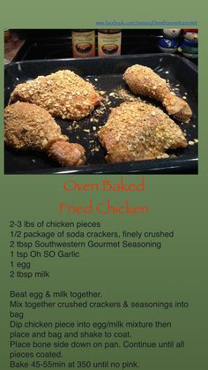 #Healthy  Oven Baked Fried chicken, crunchy taste without all the fat. #SunsetGourmet