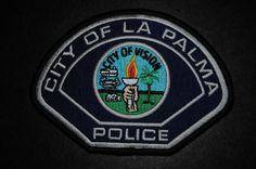 La Palma Police Patch, Orange County, California (Current 2007 Issue)