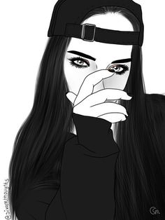 imagem discovered by clxtb_. Discover (and save!) your own images and videos on We Heart It Tumblr Girl Drawing, Tumblr Drawings, Cute Girl Drawing, Girly Drawings, Tumblr Art, Tumblr Image, Tumblr Wallpaper, Girl Wallpaper, Tumblr Outline