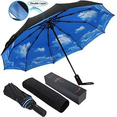 Seamless Pattern With Hearts Compact Travel Umbrella Windproof Reinforced Canopy 8 Ribs Umbrella Auto Open And Close Button Customized