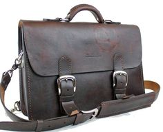 Vintage Style Distressed Leather Satchel by WhiteBuffaloRepublic, $244.99