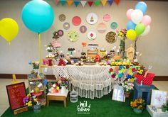 Festinha muito mimosa com tema Casa de Vó, para o primeiro aninho da Nina! Criação da Mil Folhas festas!