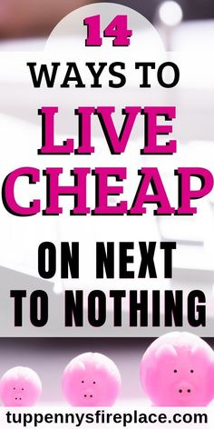 These 14 strategies for living on next to nothing will help you save money and live cheaply. When you're broke and have no money you need money saving tips to budget and get through to your next paycheck. Best Money Saving Tips, Money Saving Challenge, Saving Money, Money Tips, Money Budget, Living On A Budget, Living At Home, Frugal Living, Living Cheaply