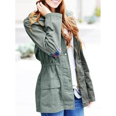 24ab7ac513a Stylish Hooded Long Sleeve Gingham Pattern Drawstring Women s Coat