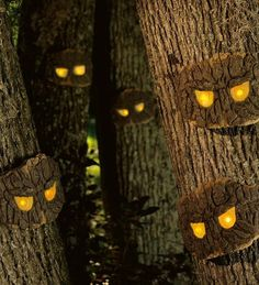 Decorative Halloween Scary Tree Eyes - holiday decorations - Plow & Hearth
