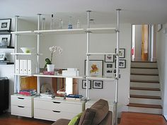 Great Photo Ideas Buying a well-designed couch is a major decision and not me… - Raumteiler Bedroom Divider, Living Room Divider, Ikea Living Room, Room Dividers, Stolmen Ikea, Elvarli Ikea, Storage Bench Seating, Student Room, Lounge Design