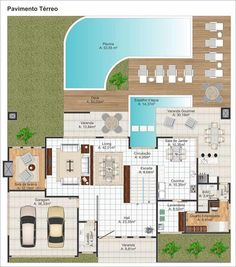 House Layout Plans, House Layouts, Villa, 400 M, Architectural House Plans, Home Design Floor Plans, My Ideal Home, Big Houses, Modern House Design