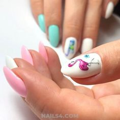 Easy And Beautiful Vacation Nail Designs / Best Graceful Nail Trend Diy Nails, Manicure, Teen Nails, Ice Cream Design, Vacation Nails, Diy Nail Designs, Perfect Nails, Nail Trends, Nails Inspiration