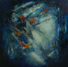 """""""Working the Margins"""" by Cynthia J. Lee (30"""" x 30"""" Oil with cold wax, charcoal, pastels) www.cynthiajlee.com"""