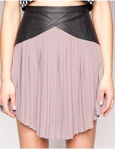 Taupe pleated skirt [Sug3777] - $55.00 : Pixie Market, Fashion-Super-Market - Shop the latest Fashion Trends