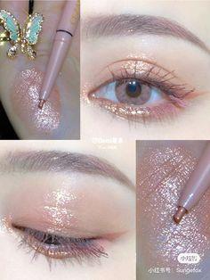 Twitter Kiss Makeup, Cute Makeup, Pretty Makeup, Soft Makeup, Beauty Makeup, Beauty Vanity, Korean Eye Makeup, Korea Makeup, Asian Makeup