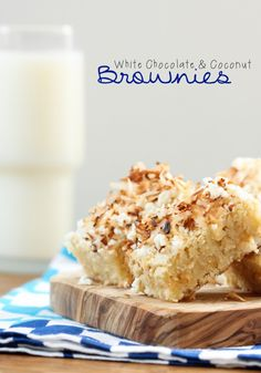 White Chocolate and Coconut Brownies from @Better Homes and Gardens