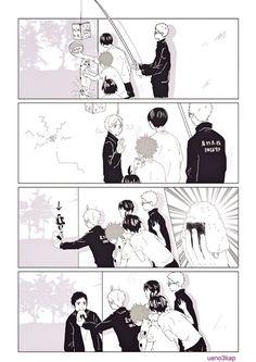 Because sugamama knows dadchi the best 😂😂😂 Haikyuu Karasuno, Haikyuu Funny, Haikyuu Ships, Haikyuu Fanart, Kuroo, Haikyuu Anime, Daisuga, Bokuaka, Kagehina