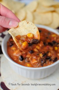 30 Minute Mexican Soup - If you like Mexican food you will LOVE this quick and easy soup! http://backforsecondsblog.com  #mexicanfood #30minutemeal #soup #recipe