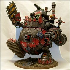 Warhammer 40k, Space Orks. The mighty Tater Titan. Fear his angry eyes! This is a kustom Stompa made out of a Mr. Potato Head. Seriously