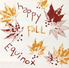 Fall Equinox Nature Craft Projects!