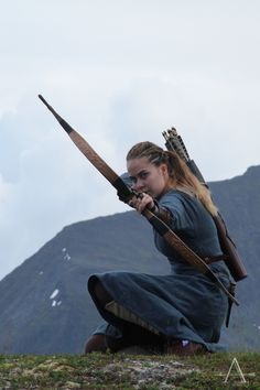 The Viking Archer Action Pose Reference, Human Poses Reference, Pose Reference Photo, Action Poses, Archery Photography, Fantasy Photography, Photography Poses, Archery Poses, Archery Girl
