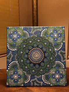 Dot mandala canvas