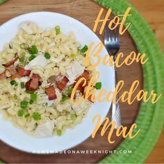 Hot Bacon Cheddar Mac - Homemade on a Weeknight