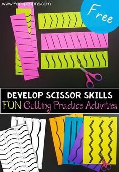 Free cutting practic Free cutting practice worksheets for developing scissor skills. These cutting practice printables have thick lines to help young children learn to cut. They are great for morning tubs. Cutting Activities For Kids, Fine Motor Activities For Kids, Motor Skills Activities, Gross Motor Skills, Kindergarten Activities, Learning Activities, Learning Shapes, Dementia Activities, Physical Activities