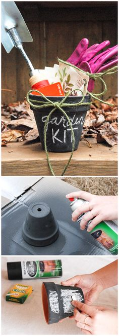 A reminder of the warm spring days to come: this DIY garden kit. It's a gift idea that works any time of year and is great for the gardener on your Christmas list.