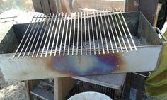 Verfärbung eines Metallgrills durch Hitze