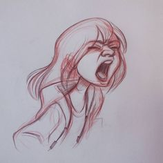 This is what happens when I'm a bit stressed.. #expression #stressed #girl #traditional #art #pencil #drawing #illustration #sketch #sketchbook #doodle #warmup #cartoon #animation #character #design #artistoninstagram