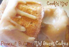 Peanut Butter mini bundt cakes