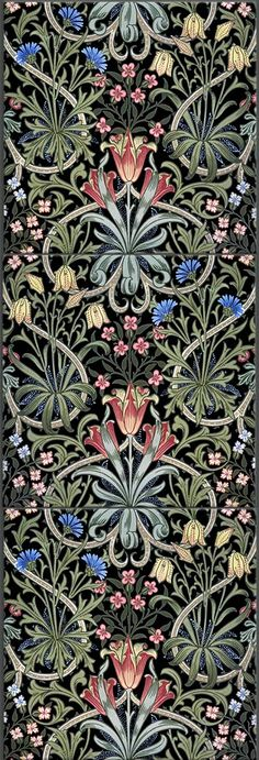 New ideas art nouveau tiles william morris designer wallpaper William Morris Patterns, William Morris Art, Art Nouveau Pattern, Art Nouveau Tiles, Art And Craft Design, Design Art, Luis Xiv, Jugendstil Design, Art Chinois